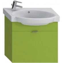JIKA TIGO skříňka s umyvadlem 565x270mm s 1 zásuvkou, zelená