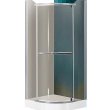 ROLTECHNIK SANIPRO DENVER/900 sprchový kout 900x1950mm čtvrtkruhový, s jednokřídlými otevíracími dveřmi, stříbro/rauch