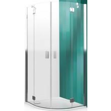 ROLTECHNIK HITECH LINE HBR2/900 sprchový kout 900x2000mm čtvrtkruhový, s dvoukřídlými otevíracími dveřmi, bezrámový, brillant premium/transparent