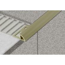 PROFIL-EU profil 10mm, 2,5m ukončovací, s přepážkou, oblý, PVC, slonová kost