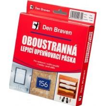 DEN BRAVEN upevňovací páska 25mmx1mm, lepící, oboustranná, v krabičce, bílá