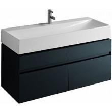 Nábytek skříňka pod umyvadlo Kolo Quattro závěsná 118x49,4x47,3 cm antracit