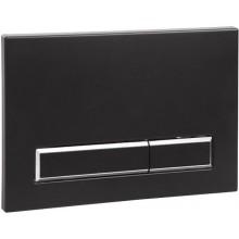 SANELA SLW 53 splachovací tlačítko 220x12,5x150mm, dvojčinné, do rámu SLR 21, plast, černá