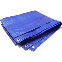 DEN BRAVEN PROFI zakrývací plachta 4mx6m, s kovovými oky, modrá