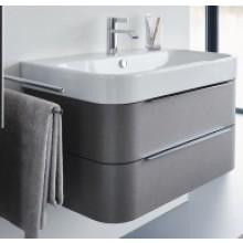 Nábytek skříňka pod umyvadlo Duravit Happy D.2 včetně vnitřního vybavení v provedení Javor 77,5x48 cm dub tmavý kartáčovaný