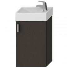 JIKA PETIT skříňka s umývátkem 386x221x585mm, šedá/šedá