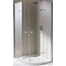 Zástěna sprchová čtvrtkruh Huppe sklo Enjoy 900x900 chrom/čiré+AP