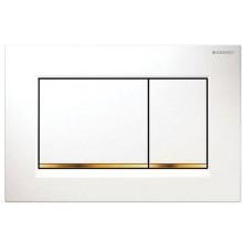 GEBERIT SIGMA 30 ovládací tlačítko 24,6x1,2x16,4cm, bílá/pozlacená/bílá