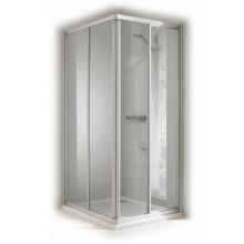 CONCEPT 100 sprchové dveře 800x800x1900mm posuvné, rohový vstup 2 dílný, stříbrná/matný plast
