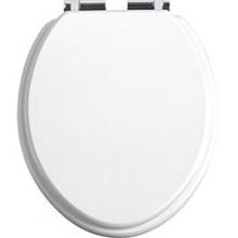 HERITAGE wc sedátko 339x409mm se soft-close, tvrzené, chrom/bílá lesklá