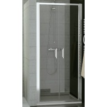 SANSWISS TOP LINE TOPP2 sprchové dveře 750x1900mm, dvoukřídlé, bílá/sklo Durlux