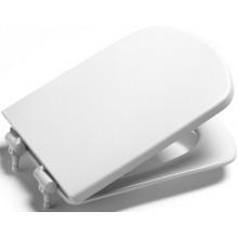 ROCA DAMA SENSO klozetové sedátko s poklopem, odnímatelné, s antibakteriální úpravou, Slowclose, bílá