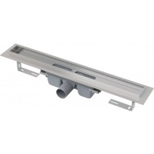 CONCEPT liniový podlahový žlab 950mm, s okrajem pro rošt na vložení dlažby, nerez