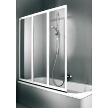 Zástěna vanová Huppe - 2000 141x142,5x140 cm stř.matná/sklo čiré