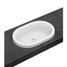 VILLEROY & BOCH ARCHITECTURA umyvadlo 615x415mm zápustné, s přepadem Bílá Alpin CeramicPlus 416660R1