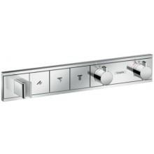 HANSGROHE RAINSELECT termostatická baterie 456x84x90mm, podomítková, vrchní díl, pro 2 spotřebiče