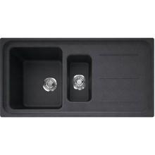 FRANKE IMPACT IMG 651 dřez 970x500mm s odkapávačem, Fragranit DuraKleen Plus/onyx