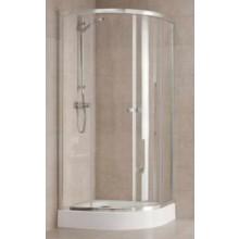 Zástěna sprchová čtvrtkruh Kolo sklo First 900x1900mm stříbrná lesklá/satinované