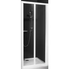 ROLTECHNIK CLASSIC LINE CDZ2/900 sprchové dveře 900x1850mm zlamovací pro instalaci do niky, rámové, bílá/transparent
