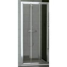 SANSWISS TOP LINE TOPS3 sprchové dveře 1200x1900mm, třídílné posuvné, bílá/sklo Cristal perly