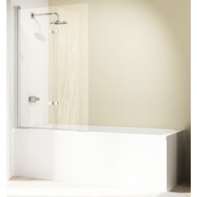 Zástěna vanová Huppe - Design elegance 1000x1500 mm stříbrná lesklá/čiré AP