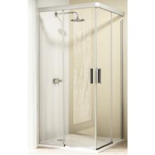 Zástěna sprchová dveře Huppe sklo Design pure 900x900x2000 mm stříbrná lesk/bílá/čiré AP