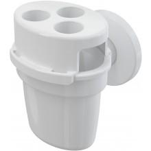 CONCEPT nálevka pro odkapávající kondenzát, s kuličkou a držákem hadiček, bílá