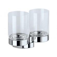 Doplněk sklenička Keuco Solo 01551016000 dvoj chrom/sklo čiré