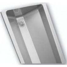 AZP BRNO AUL 05.3 umývací žlab 2500x400mm, s kulatými vnitřními rohy, závěsný, nerez ocel