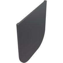 ALCAPLAST AVZ-P009 čelo 106x103mm, pro zaslepení konce žlabu, PP, černá