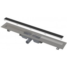 ALCAPLAST APZ115 MARBLE LOW podlahový žlab 1110mm, bez okraje s roštem pro vložení dlažby, nerez ocel