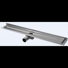 CONCEPT 50 podlahový žlab 785mm, se zadní vertikální přírubou, snížená výška, do prostoru, nerez ocel