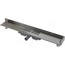 CONCEPT 100 WALL LOW podlahový žlab 1210mm, s okrajem pro plný rošt, s pevným límcem ke stěně, nerez