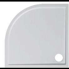 JIKA PANDA sprchová vanička z litého mramoru 900x900x30mm čtvrtkruhová, R 550mm, bílá