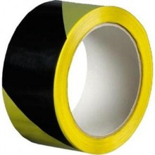 DEN BRAVEN výstražná páska 50mmx66m, samolepící, pravá, černo-žlutá