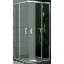 SANSWISS TOP LINE TOPAC sprchový kout 1000x1900mm, čtverec, s dvoudílnými posuvnými dveřmi, rohový vstup, aluchrom/sklo Durlux