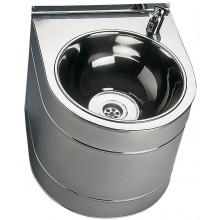 SANELA SLUN14 pitná fontánka 330x380x300mm, závěsná, s tlačnou armaturou, nerez lesk
