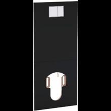 GEBERIT AQUACLEAN krycí deska 47,5x106cm pro montáž před nádržky, sklo černé