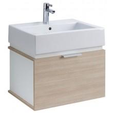 KOLO TWINS koupelnová sestava umyvadlo 50cm a skříňka pod umyvadlo, korpus bílý, čelní plocha dub arava L59025000