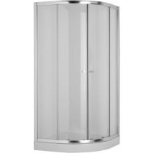 Zástěna sprchová čtvrtkruh Jika sklo Mio 100x185 cm R550 transparentní