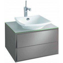 KOHLER ESCALE skříňka 600x515x360mm pod umyvadlo, 2 zásuvky, gloss titanium EB762-N21