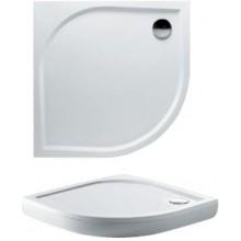 RIHO KOLPING DB14 sprchová vanička 90x90cm čtvrtkruh, včetně sifonu a podpěr, protiskluz, litý mramor, bílá