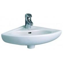 CONCEPT 100 rohové umývátko 400x400mm s otvorem, bílá alpin 6093L003-0001
