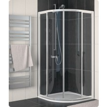 Zástěna sprchová čtvrtkruh Ronal sklo ECO-Line ECOR 55 090 50 22 900x1900/R550 aluchrom/durlux