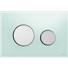TECE LOOP ovládací tlačítko 220x150mm, dvoumnožstevní splachování, zelená/lesk-chrom