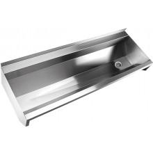 SANELA SLUN10L mycí žlab 1250mm, hranatý, neoplástěný, AISI-316L, nerez mat