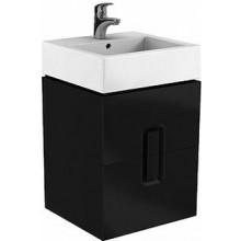 KOLO TWINS skříňka pod umyvadlo 50x57x46cm, závěsná, matná černá 89491000