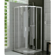 SANSWISS TOP LINE TER sprchový kout 900x900x1900mm s dvoukřídlými dveřmi, čtvrtkruh, aluchrom/čiré sklo Aquaperle
