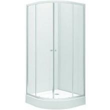 KOLO FIRST sprchový kout 80x190cm, čtvrtkruhový, posuvné dveře, čiré sklo/stříbrná lesklá ZKPG80222003