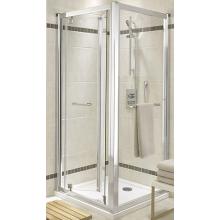 KOLO GEO-6 skládací dveře 900x1900mm do niky nebo pro kombinaci s pevnou boční stěnou nebo rozšiřovacím panelem, stříbrná lesklá/čiré sklo GDRB90222003